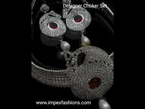 Indian fashion jewelry Wholesale choker set, visit www.impexfashions.com