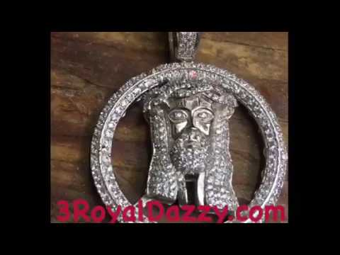 Buying High Quality 925 Sterling Silver Lab created Iced Out Jesus Face Head men medallion.  Low pr