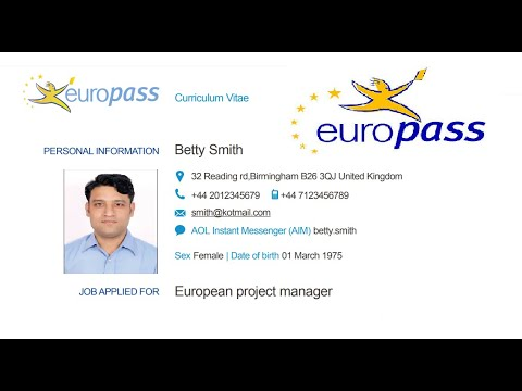 Easy How To Create A Europass CV 🇵🇰🇵🇰🇵🇰 | ScienceRoot