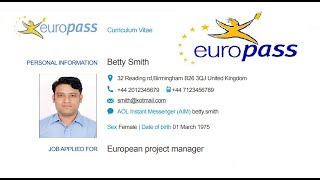 Example Of A Europass Cv More Examples Http