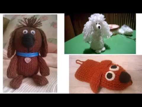 Схема вязания игрушки собаки спицами