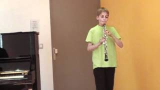 Hautbois Elouan 12 ans sonate sol mineur BWV 1020 1er mvt Bach 2012 04