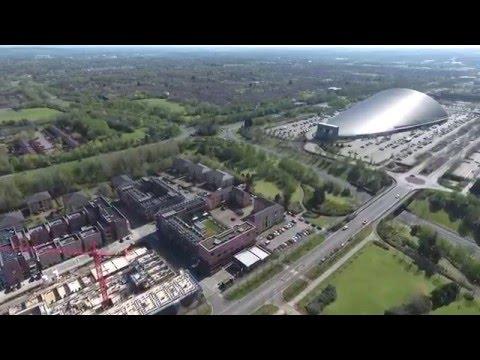 Milton Keynes / City Center and Campbell Park / Phantom 4 / Aerial View