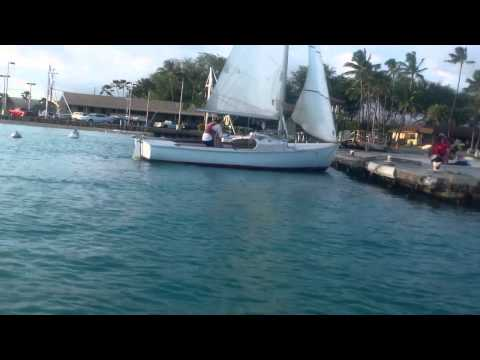 Sailing at Hickam Harbour