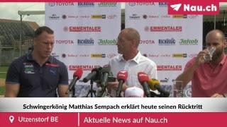 König Matthias Sempach erklärt den Rücktritt