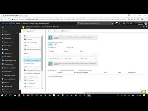 Azure SQL database virtual network and firewall