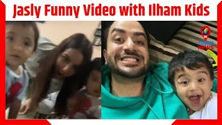 Jasly Funny Video with Ilham Goni Kids   Aly Goni-Jasmin Bhasin Look From Jammu   Intrendnews