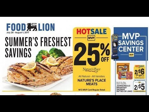 Food Lion Weekly Ad Glasgow Ky 726 To 81 2017 Youtube