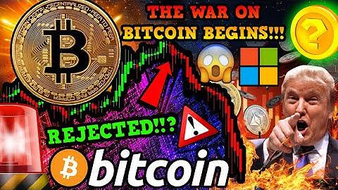 BITCOIN MASSIVE REJECTION!!? BREAKING: US PENTAGON PLANS for BTC REBELLION!!!