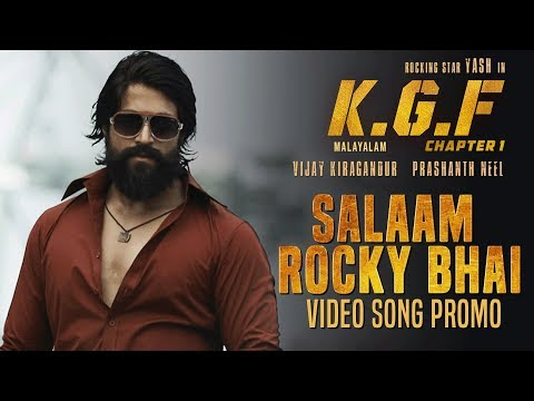 Salaam Rocky Bhai Video Song Promo | KGF Malayalam Movie | Yash | Srinidhi Shetty | Prashanth Neel