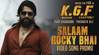 Salaam Rocky Bhai Video Song Promo | KGF Malayalam Movie | Yash | Srinidhi Shetty | Prashanth Neel