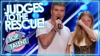 JUDGES TO THE RESCUE! Simon Cowell & Co Step In To SAVE AUDITIONS On GOT TALENT & X FACTOR