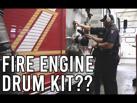 I Used A Fire Engine To Make A DRUMKIT