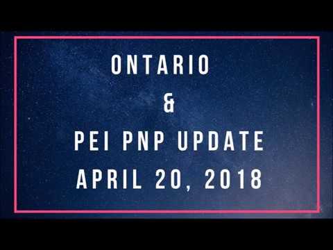 Ontario & PEI PNP Update