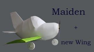 RC-Flugzeug - Cartoon Fattie - Maiden + die neuen Flügel