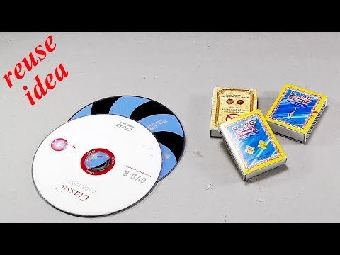 Waste material reuse idea   Best out of waste   DIY arts and crafts   recycling CD   disc
