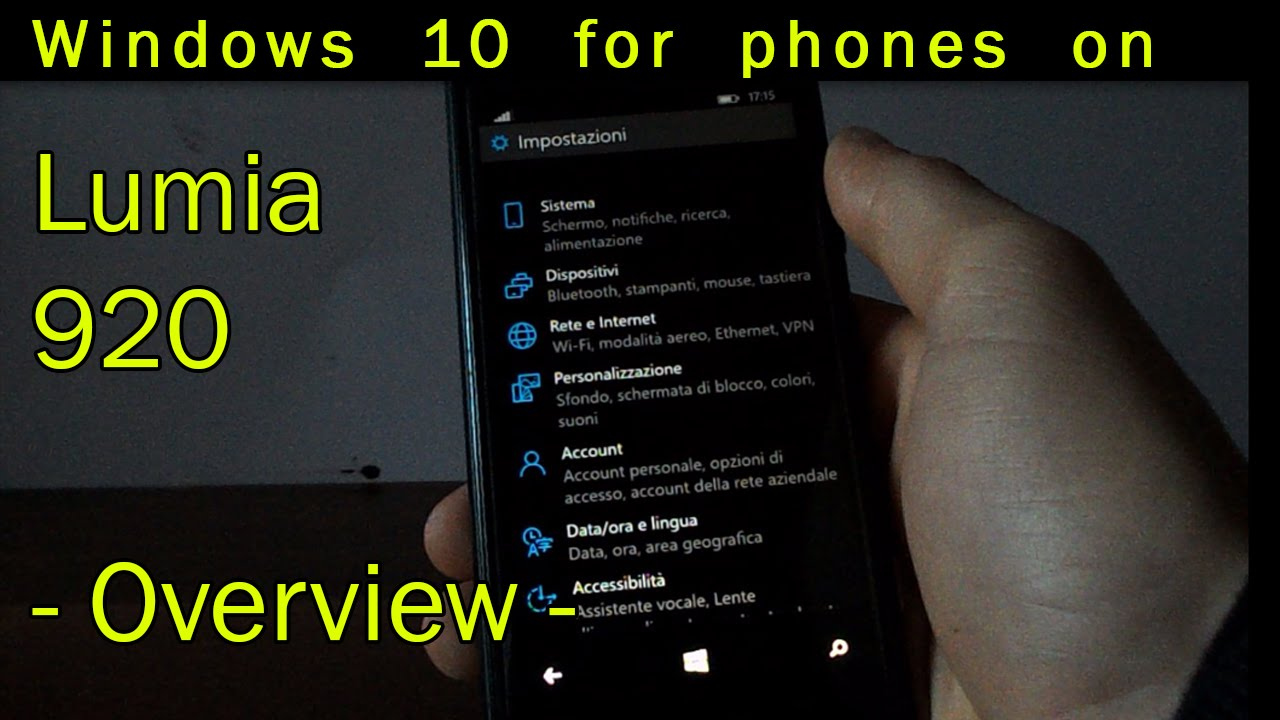 Windows phone 10 data - Windows 10 For Phones Technical Preview On Lumia 920