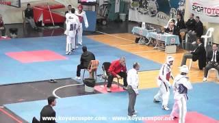 74kg Oguzhan Angun vs Taha Yasin Kandur (2013 Turkish Senyor TKD Championships)