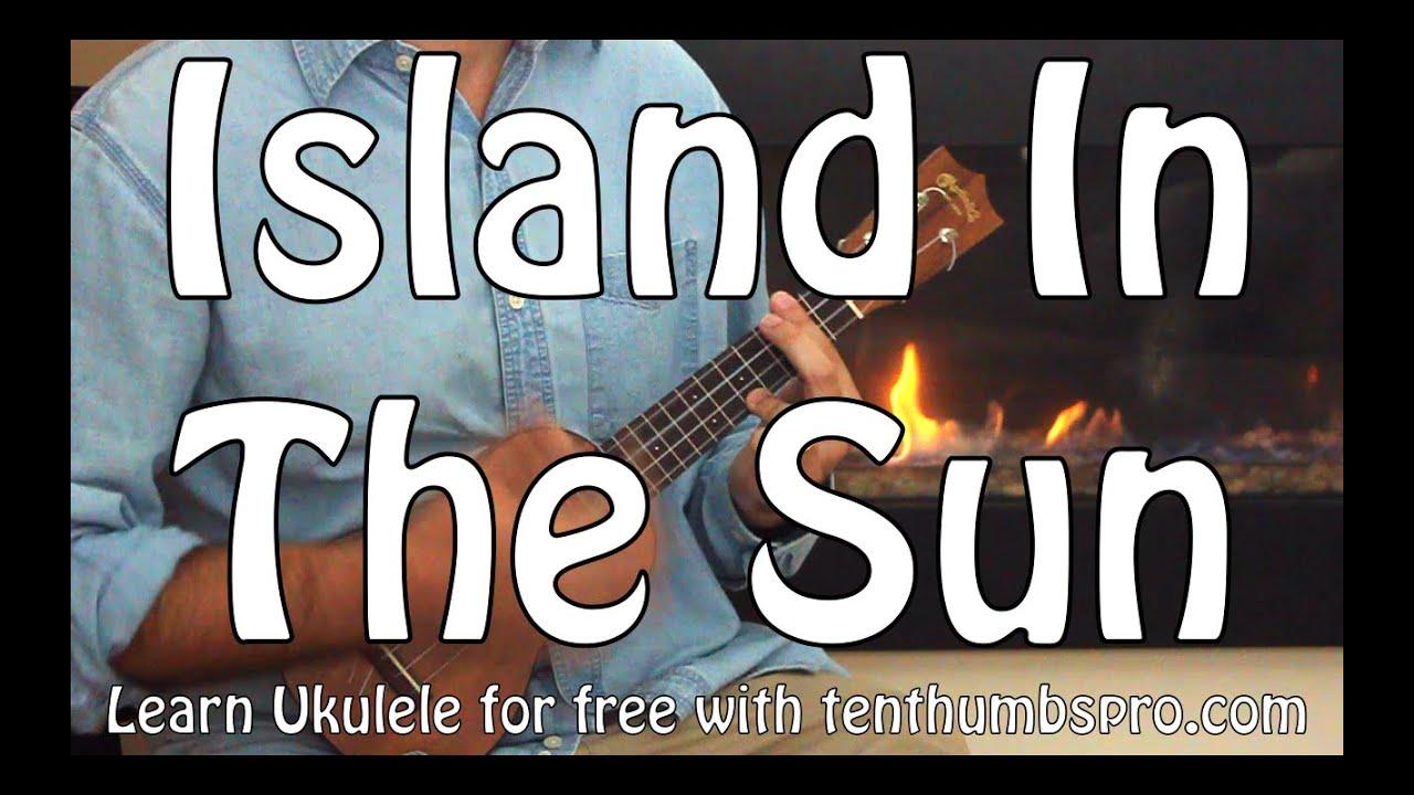 Weezer Island In The Sun Ukulele Tutorial Barre Chords Youtube