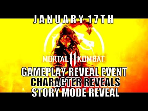 Mortal Kombat  January  Gameplay Reveal Event / Box Art Reveal / Character And Story Reveals