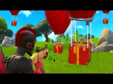 LEGENDARY CHRISTMAS PRESENT HUNTING! (Fortnite Battle Royale