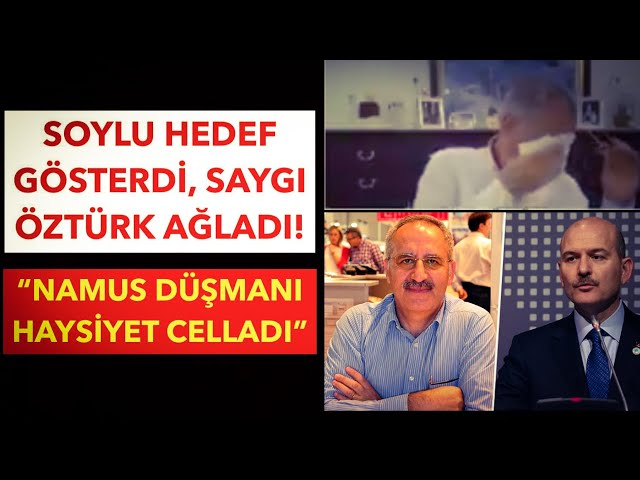SÜLEYMAN SOYLU, GAZETECİ SAYGI ÖZTÜRK'Ü AĞLATTI