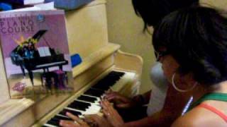 ashley and brittnee playing piano Thumbnail