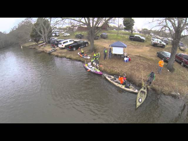 North Alabama Kayak Anglers - Mud Creek 2015 Launch Drone Video