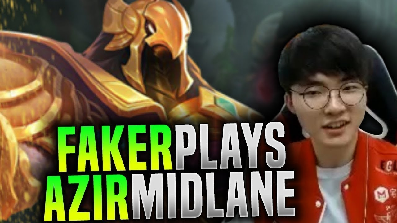 Faker Wants to Destroy with Azir! - SKT T1 Faker Plays Azir Mid! | SKT T1 Replays