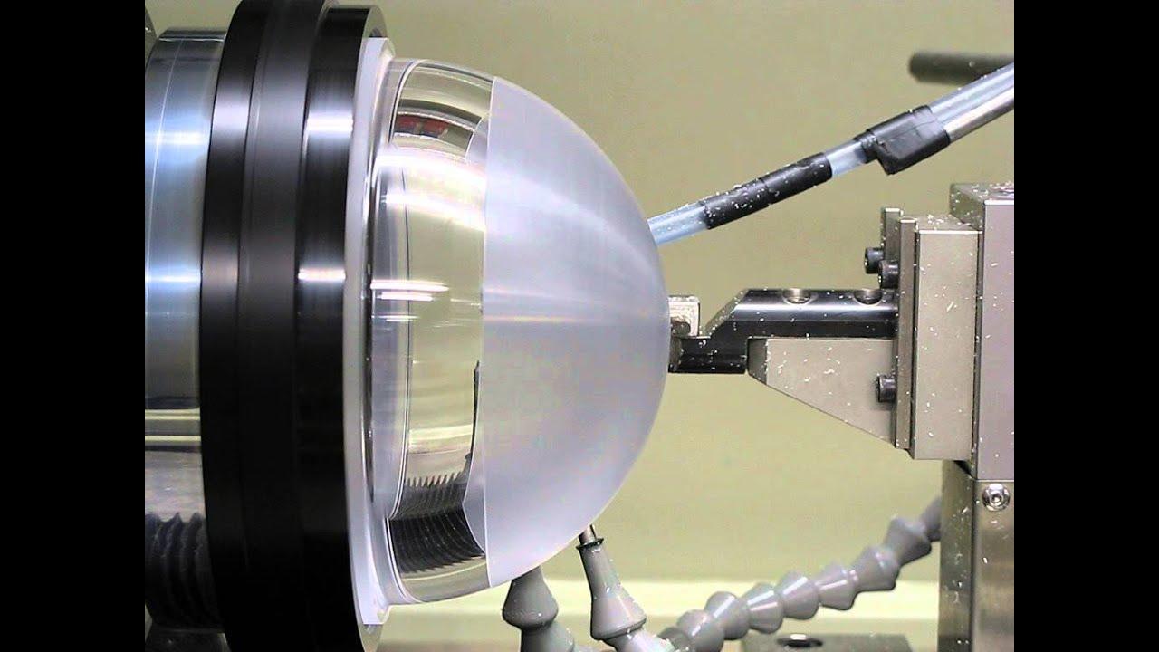 59d422524c10 Diamond turning an acrylic dome - YouTube