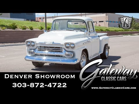 1958 Chevy Apache Stepside Pickup - Denver #547 Gateway Classic Cars