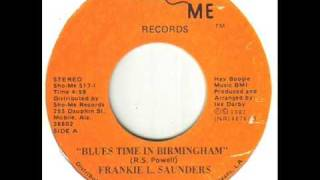Frankie L Saunders Blues Time In Birmingham