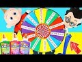3 Colors of Glue Slime SWITCH UP Wheel Challenge with Incredibles 2 Jack Jack and PJ Masks Romeo