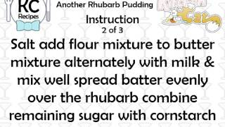 Another Rhubarb Pudding - Kitchen Cat