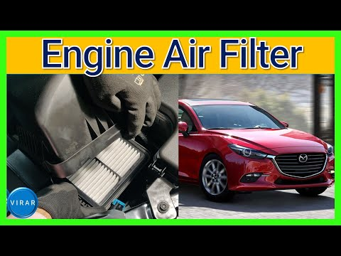 How To Replace Engine Air Filter - Mazda 3 (2014-2018)