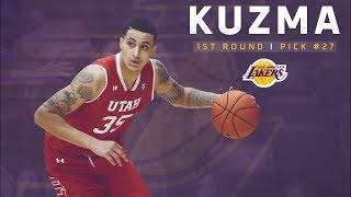 2017 NBA Draft Lakers Draft Kyle Kuzma with the 27th Pick (via trade with the Nets)