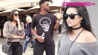Shay Mitchell & Jimmy Butler Go On A Lunch Date Together At Il Pastaio In Beverly Hills 5.7.16