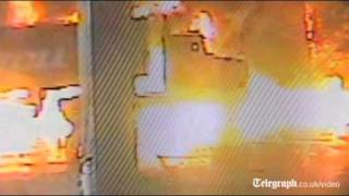 CCTV captures moment petrol tanker explodes into flames in Melbourne