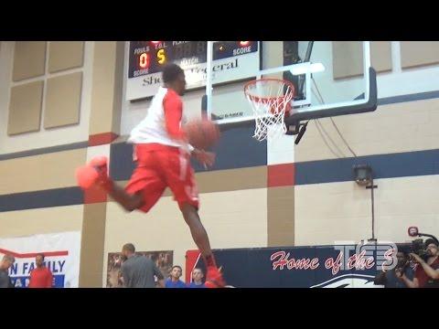 High School Slam Dunk National Championship - INSANE Warm up DUNKS!