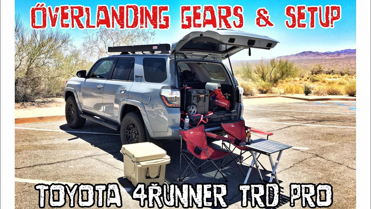 Part24 4K 2017 4Runner TRD PRO Cement Overlanding Camping Setup MUST SEE