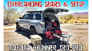 (Part24) (4K) 2017 4Runner TRD PRO Cement. Overlanding / Camping Setup!! MUST SEE!!