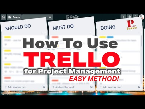 How To Use Trello For Project Management - Beginners Guide For Business & Personal Organization thumbnail