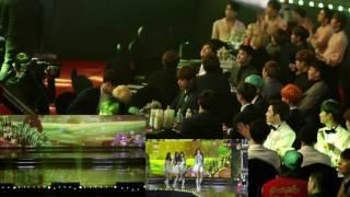 Download Video 160114 SMA BTS EXO SHINee BTOB VIXX Taeyeon reaction to GFriend- Me Gustas Tu MP3 3GP MP4