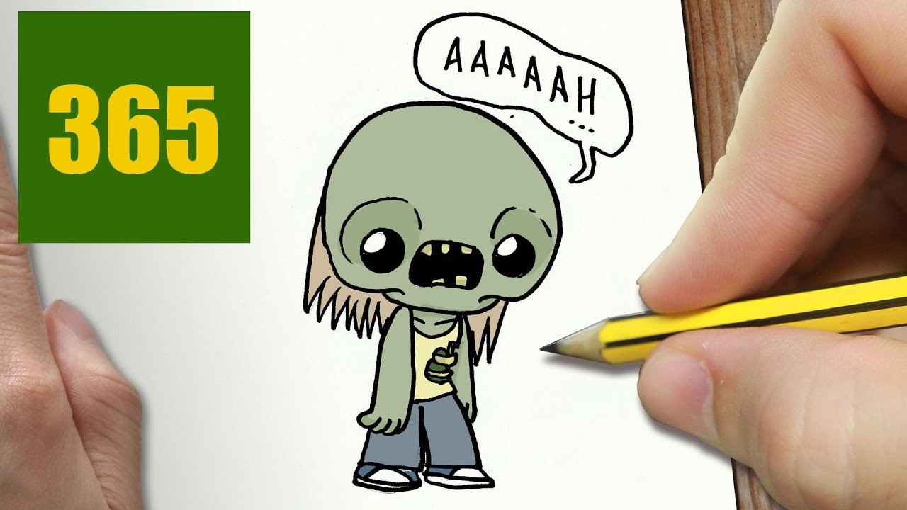 Comment dessiner zombie kawaii tape par tape dessins kawaii facile youtube - Dessin de zombie ...