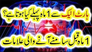 Heart Attack se Aik Month Pehlay kiya hota hay Heart Attack Symptoms in Urdu Home Health Care Tips