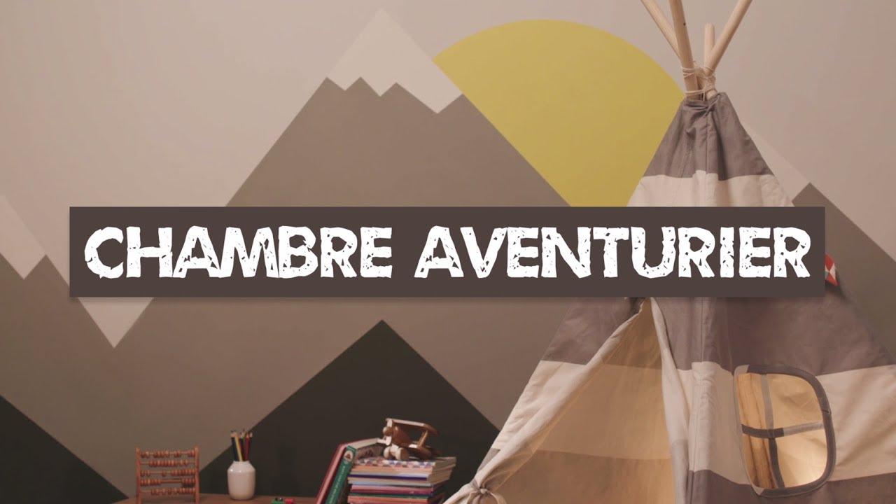 comment peindre une chambre pour enfant sur le thème aventure - youtube