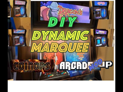 DIY Arcade1Up Dynamic LCD Marquee from HOME ARCADE JOURNEY