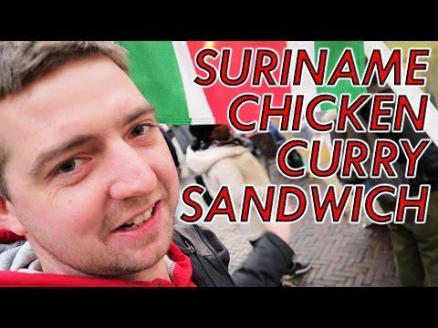 Suriname chicken curry sandwich food review utrecht Netherlands