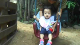 Video Gisel Main Ayunan - 14 Months Old Toddler Playing Swing At Kids Park download MP3, 3GP, MP4, WEBM, AVI, FLV Agustus 2018