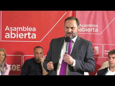 Asamblea Abierta de José Luis Ábalos en Mejorada del Campo (Madrid)